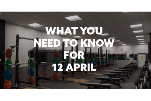 What you need to know for April 12