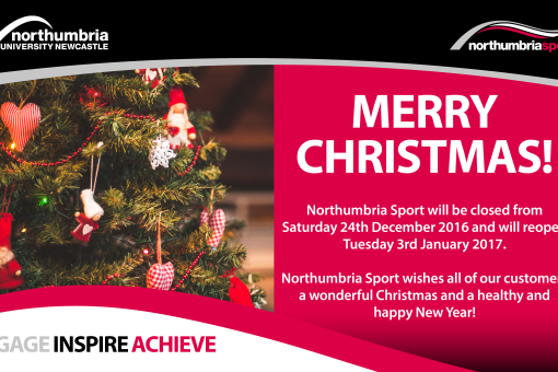 Northumbria Sport Christmas Closure
